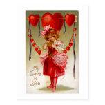 Mi amor a usted tarjetas postales
