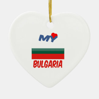 Mi amor Bulgaria Adorno De Cerámica En Forma De Corazón