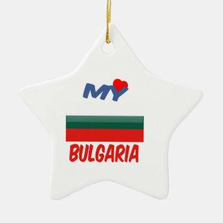 Mi amor Bulgaria Adorno De Cerámica En Forma De Estrella