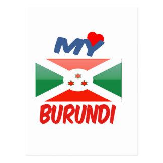 Mi amor Burundi Tarjeta Postal