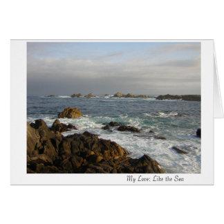 Mi amor: Como el mar Tarjeta De Felicitación