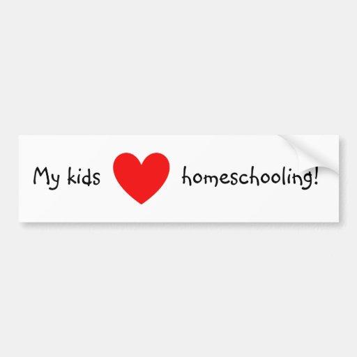 ¡Mi amor de los niños homeschooling! Pegatina Para Auto