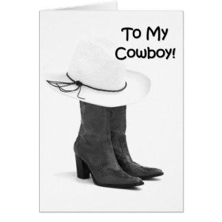MI AMOR DEL KISSER DE COWBOY-FAVORITE USTED TARJETA DE FELICITACIÓN