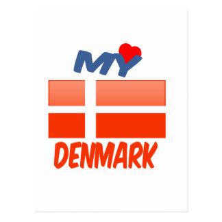 Mi amor Dinamarca Tarjetas Postales