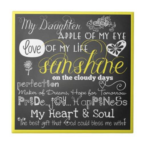 Mi amor e inspiración CeramicTile de la hija Azulejo