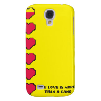 Mi amor es más que corazones del juego de un juego funda para samsung galaxy s4