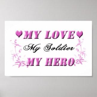 Mi amor mi soldado mi poster del héroe