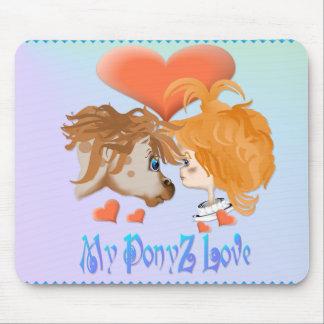 Mi amor Mousepad indicado con letras de PonyZ