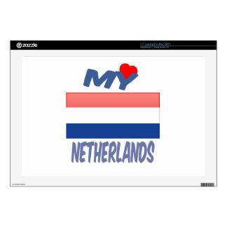 Mi amor Países Bajos Portátil Calcomanía