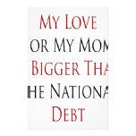 Mi amor para mi mamá es más grande que el DEB naci Papeleria Personalizada