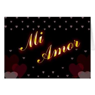 Mi Amor Tarjeta Greeting Card