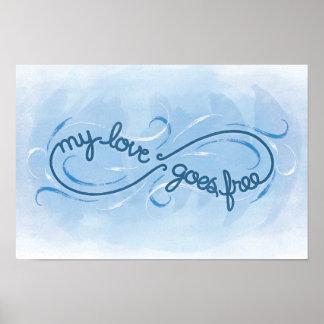 Mi amor va libremente - impresión impresiones