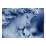 Mi ángel azul tarjetón