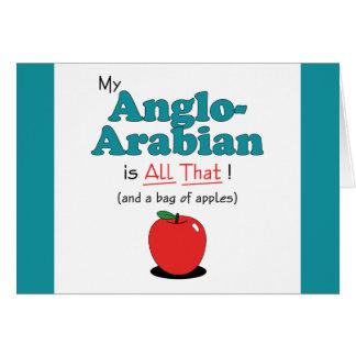 ¡Mi Anglo-Árabe es todo el eso! Caballo divertido Felicitaciones