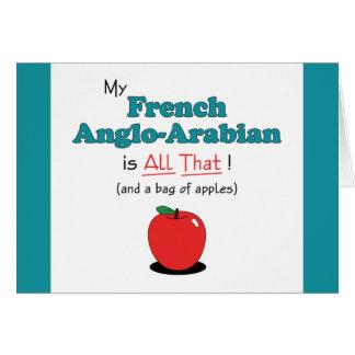 ¡Mi Anglo-Árabe francés es todo el eso! Caballo di Tarjeta