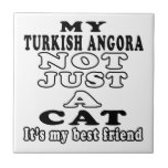 Mi angora turco no apenas un gato azulejos cerámicos