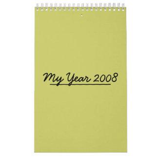 Mi año 2008 calendarios de pared