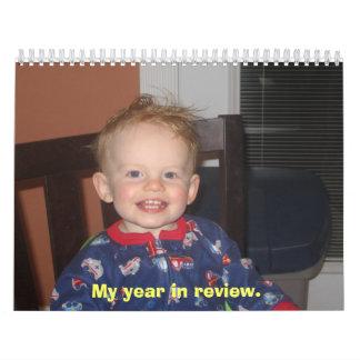 Mi año en estudio calendarios de pared