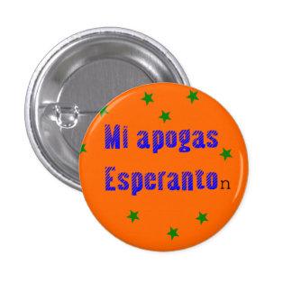 Mi apogas esperanton pinback button