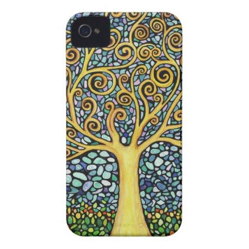 Mi árbol de la vida iPhone 4 carcasas