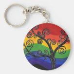 Mi árbol del arco iris llaveros