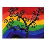 Mi árbol del arco iris postal