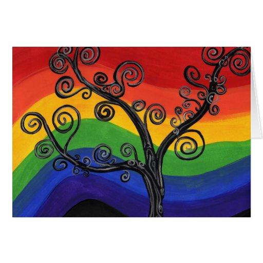 Mi árbol del arco iris tarjeta