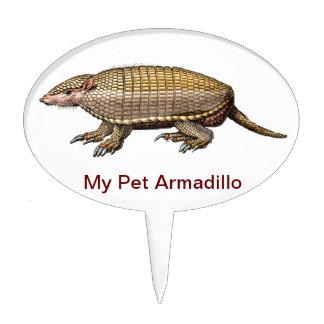 ¡Mi armadillo del mascota - lindo y mimoso - SÍ! Palillos De Tarta