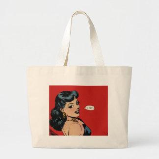 Mi arte cómico del chica del vintage secreto de la bolsas de mano