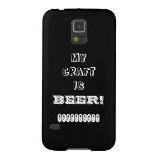 ¡Mi arte es cerveza! Funda Galaxy S5