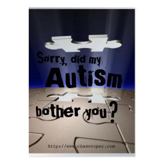 ¿Mi autismo le molestó? Tarjetas De Visita Grandes