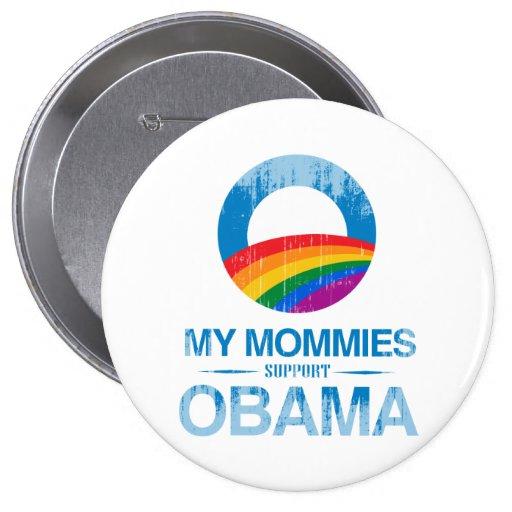 Mi ayuda Obama Vintage.png de las mamás Pin Redondo 10 Cm