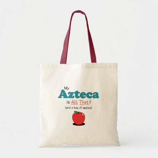 ¡Mi Azteca es todo el eso! Caballo divertido Bolsa Tela Barata