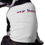 Mi azul blanco rojo patriótico de las barras y est camisetas de mascota
