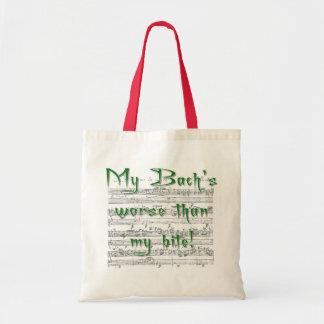 Mi Bach peor que mi mordedura Bolsa Tela Barata