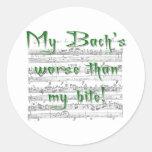 ¡Mi Bach peor que mi mordedura! Etiqueta Redonda