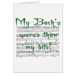 ¡Mi Bach peor que mi mordedura! Felicitaciones