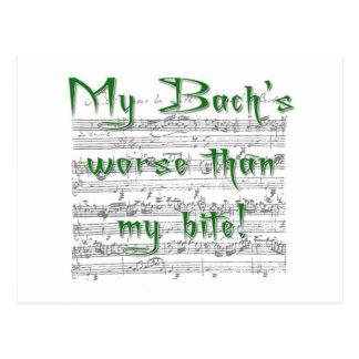 ¡Mi Bach peor que mi mordedura! Tarjeta Postal