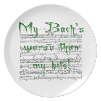 Mi Bach peor que mi placa de la mordedura Platos De Comidas