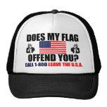 ¿Mi bandera le ofende? Gorro De Camionero