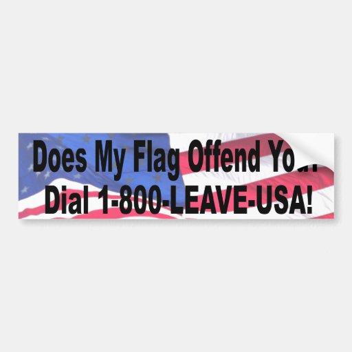 ¿Mi bandera le ofende? Pegatina Para Auto