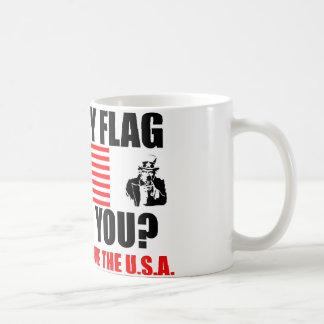 ¿Mi bandera le ofende? Taza De Café
