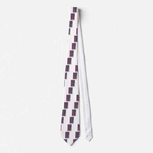 Mi Bandera Print Neck Tie