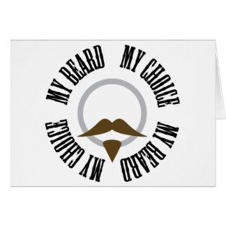 Mi barba, mi opción - perilla de Brown Tarjeta De Felicitación