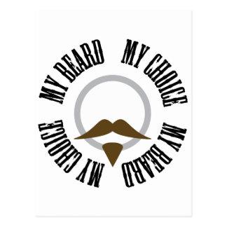 Mi barba, mi opción - perilla de Brown Tarjeta Postal