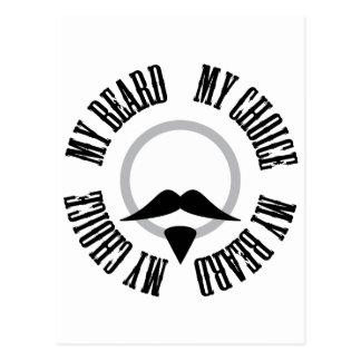 Mi barba, mi opción - perilla negra postal