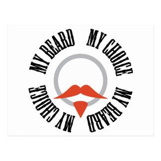 Mi barba, mi opción - perilla roja postal
