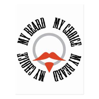 Mi barba, mi opción - perilla roja postales