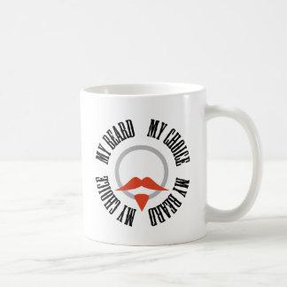 Mi barba, mi opción - perilla roja taza clásica