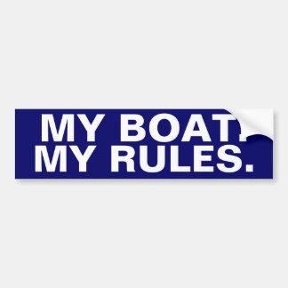 Mi barco. Mis reglas - canotaje divertido Pegatina Para Auto